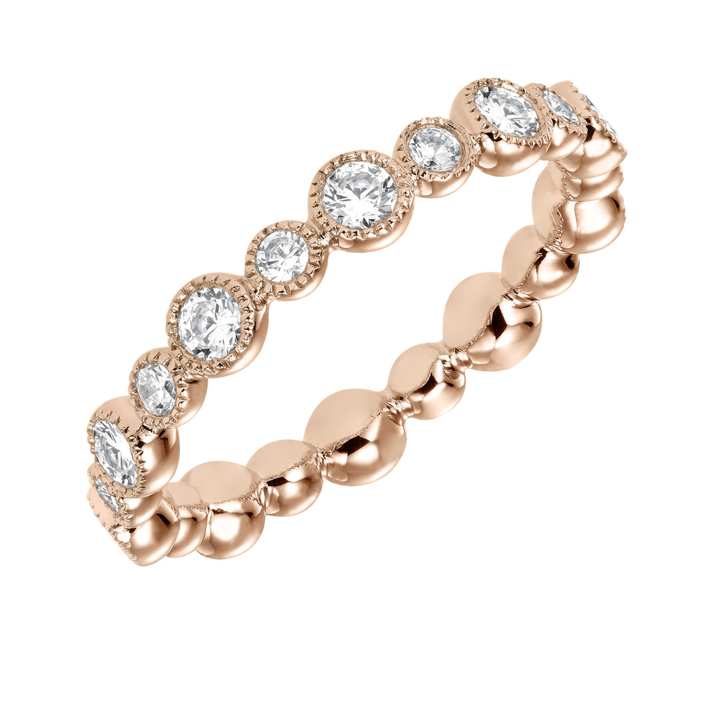 Bezel Set Diamond Eternity ring