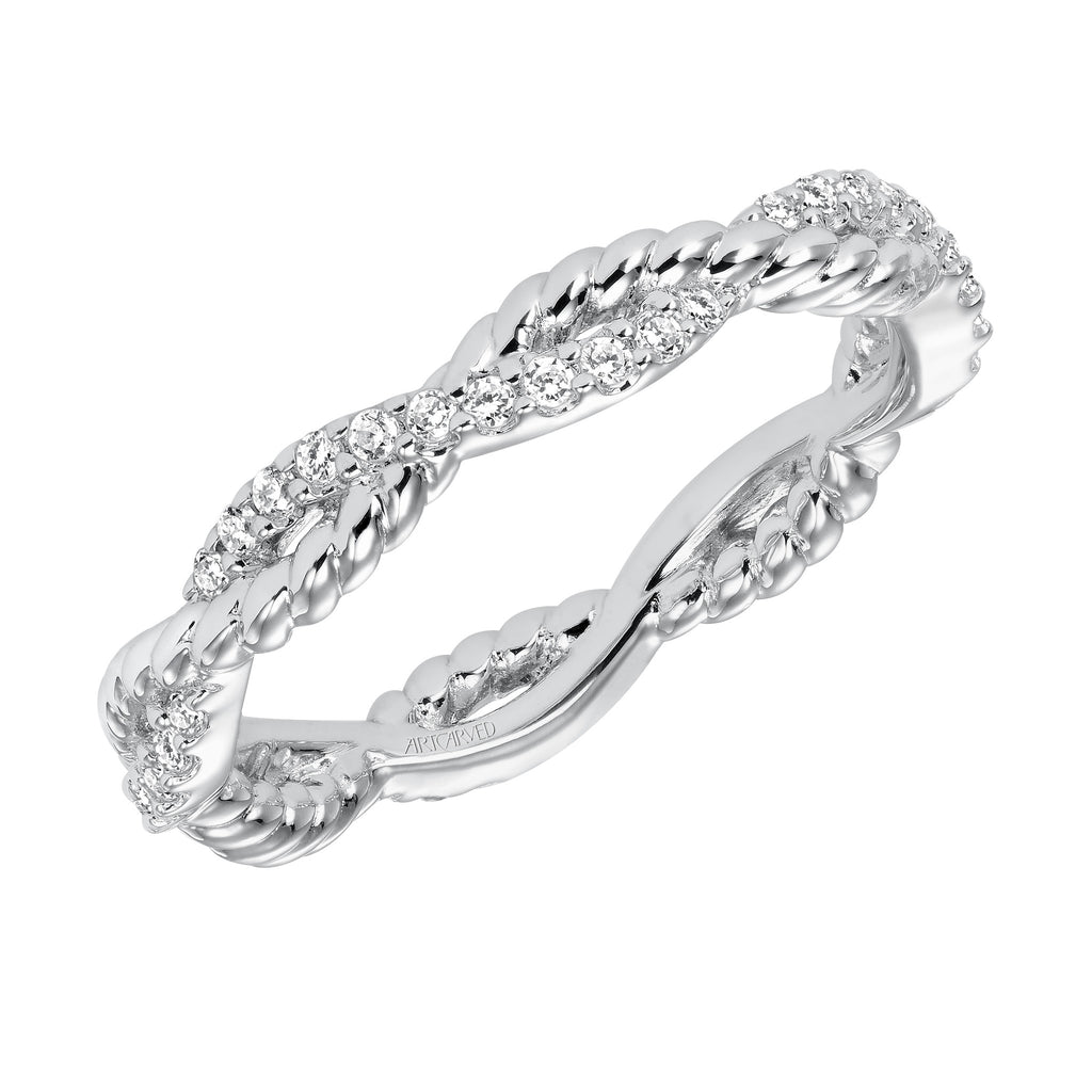 Rope Design Diamond Eternity ring