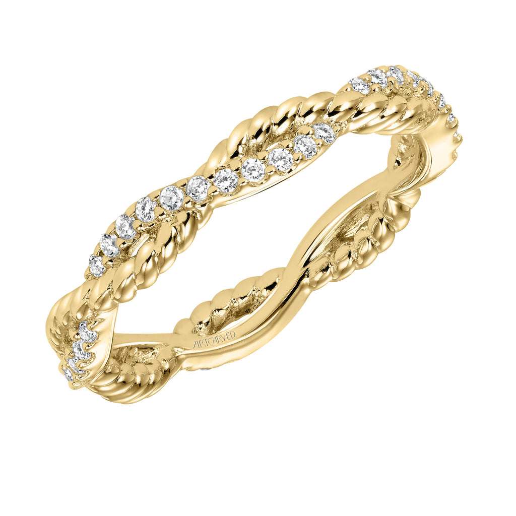 Rope Design Diamond Eternity Band