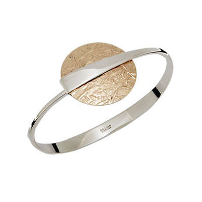 Sterling & Gold Disc Bracelet