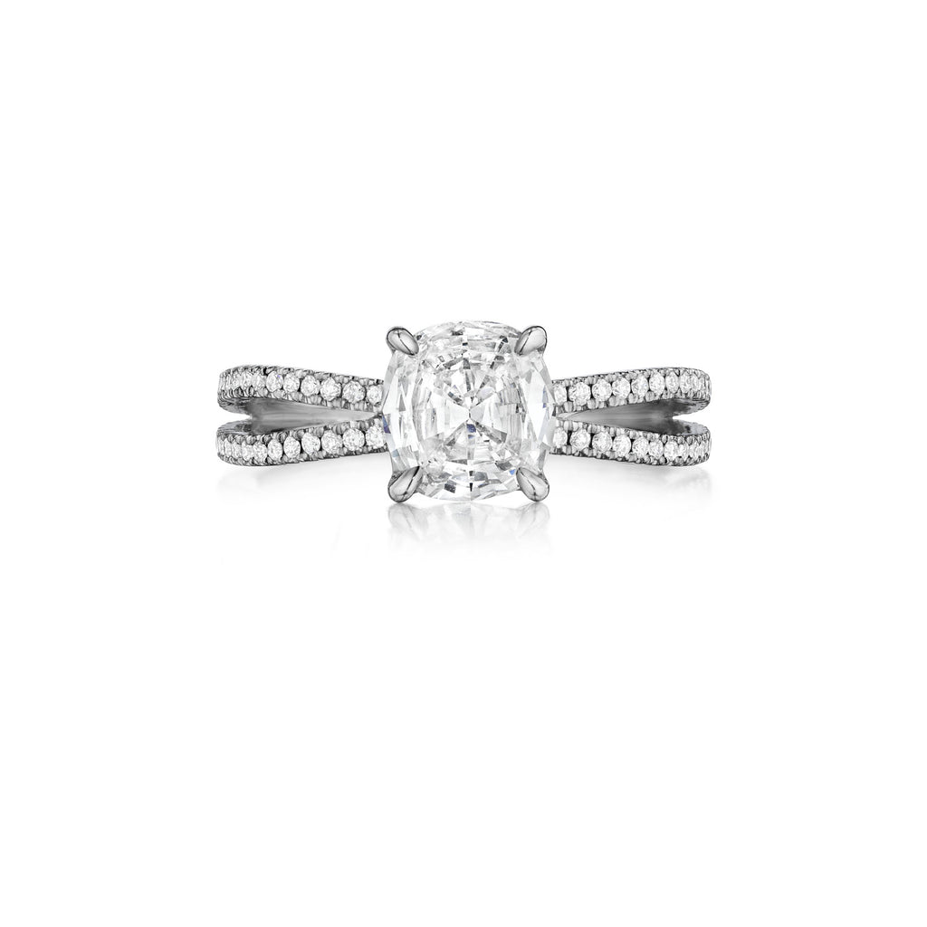 Henri Daussi Split Shank Diamond Engagement Ring H01 available at Richter & Phillips Jewelers Downtown Cincinnati OH