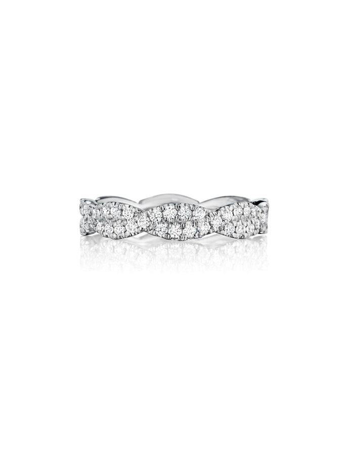Henri Daussi twisted pavé diamond band R31-1 Richter & Phillips Jewelers Cincinnati OH