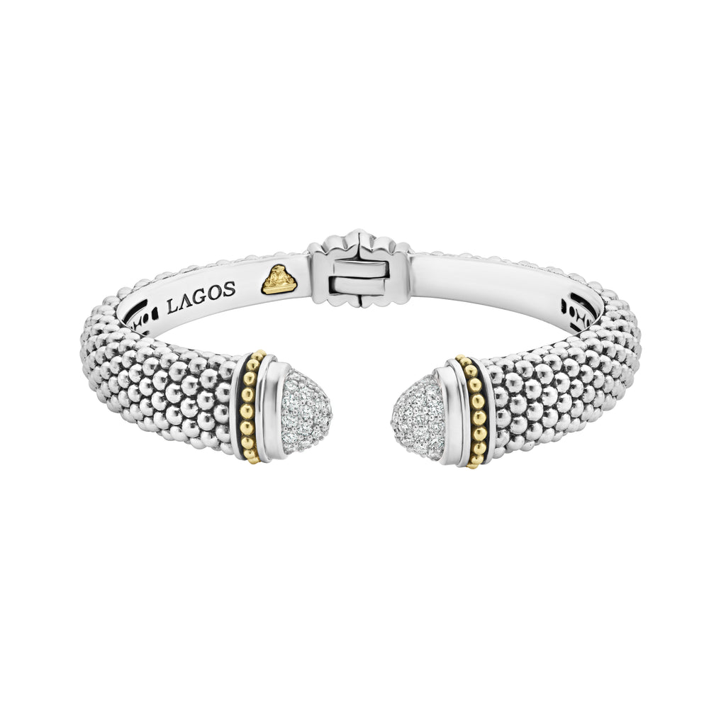 LAGOS DIAMONDS & CAVIAR DIAMOND CUFF BRACELET