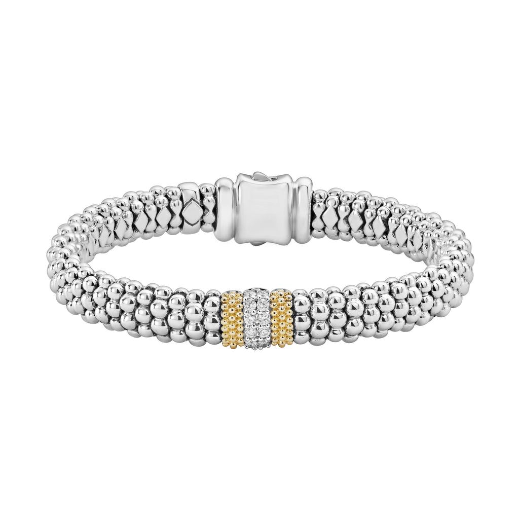 LAGOS DIAMOND LUX DIAMOND CAVIAR BRACELET