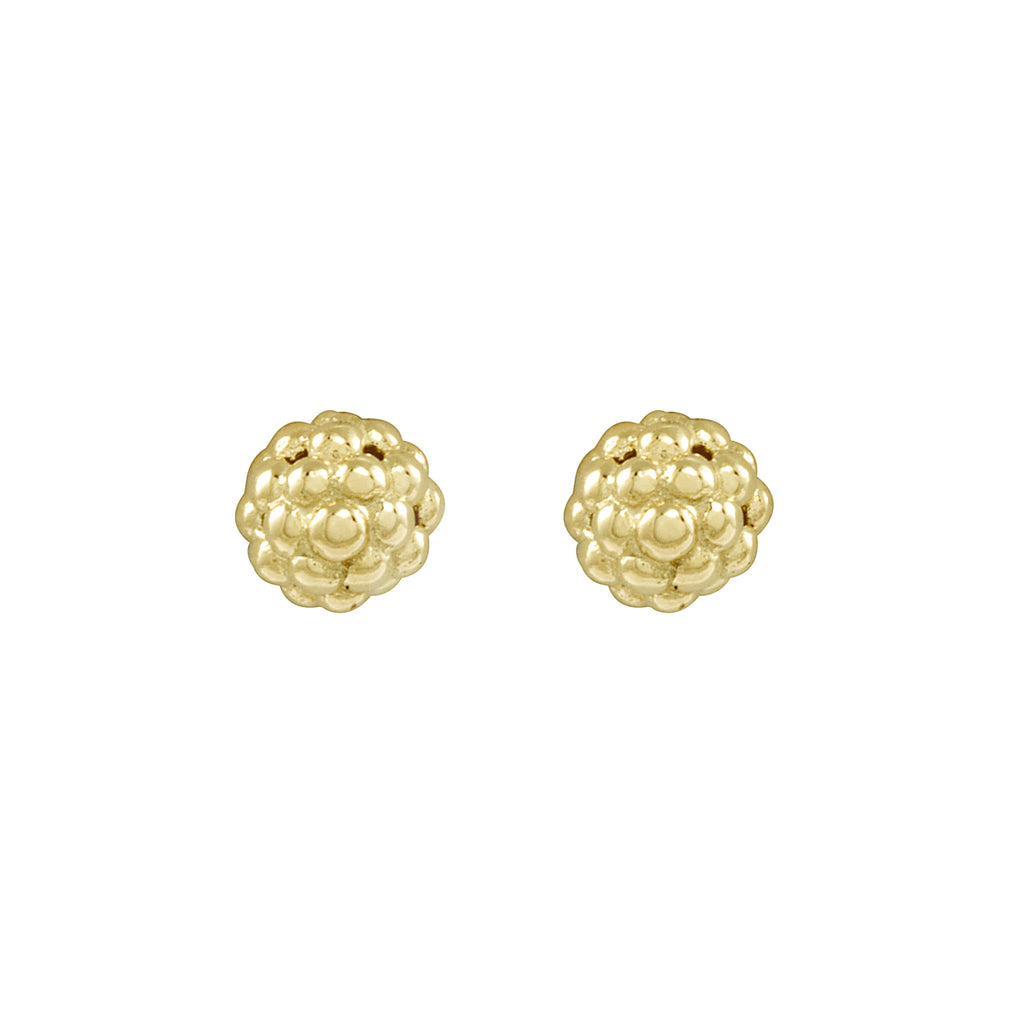 LAGOS CAVIAR GOLD Gold Beaded Stud Earrings 01-10434-00 Richter & Phillips Jewelers Cincinnati, OH