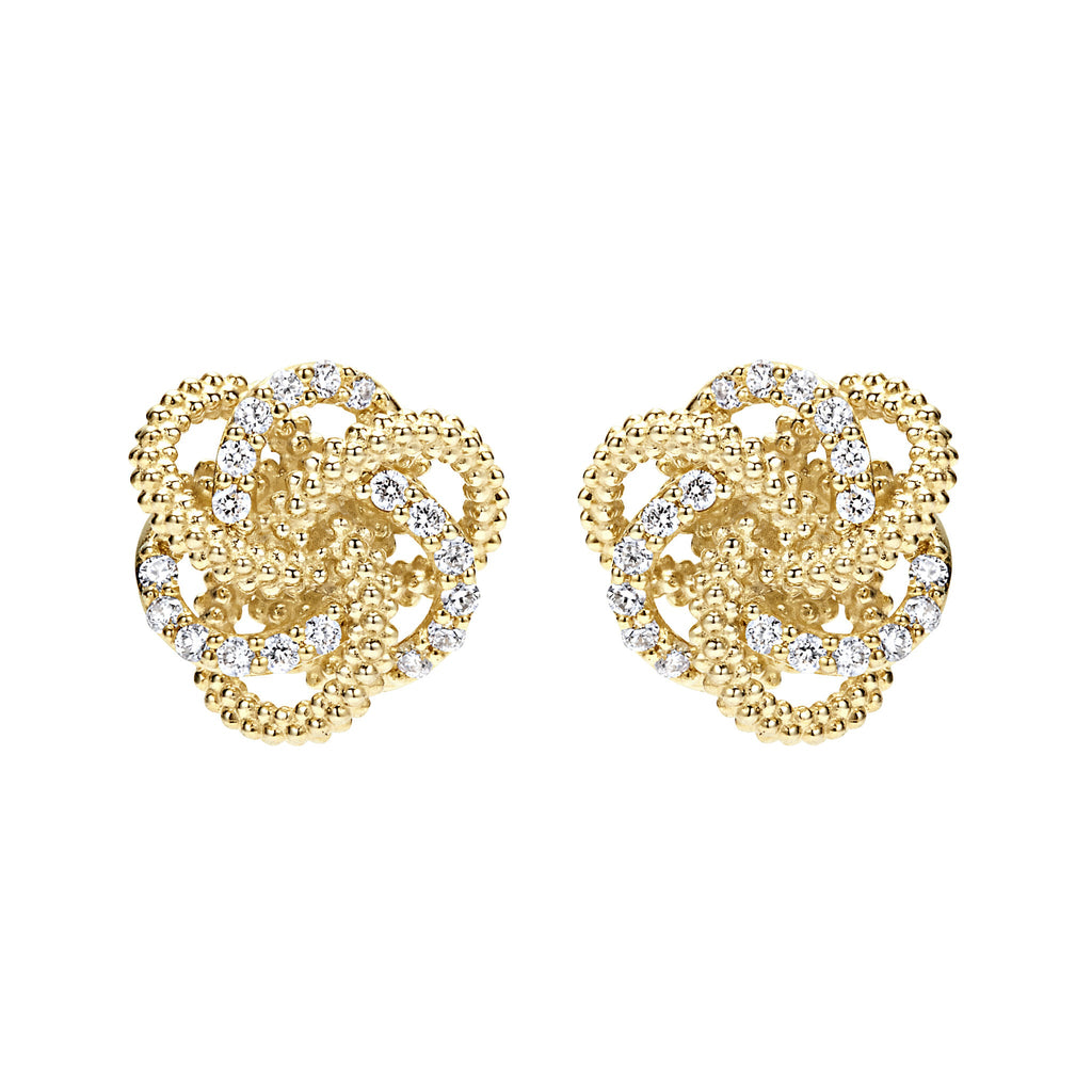 LAGOS LOVE KNOT STUD EARRINGS 01-10529-00 Richter & Phillips Jewelers Cincinnati, OH