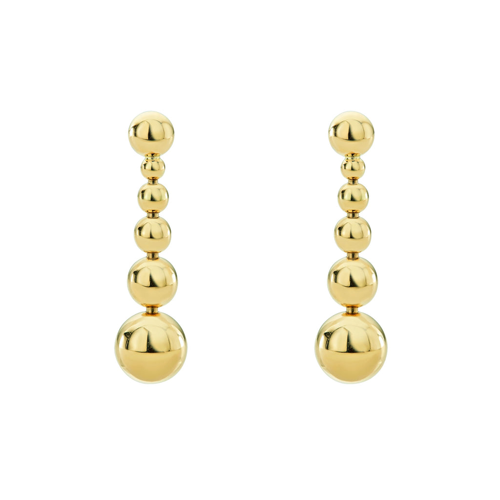 LAGOS CAVIAR GOLD Gold Drop Earrings 01-11000-00 Richter & Phillips Jewelers Cincinnati, OH