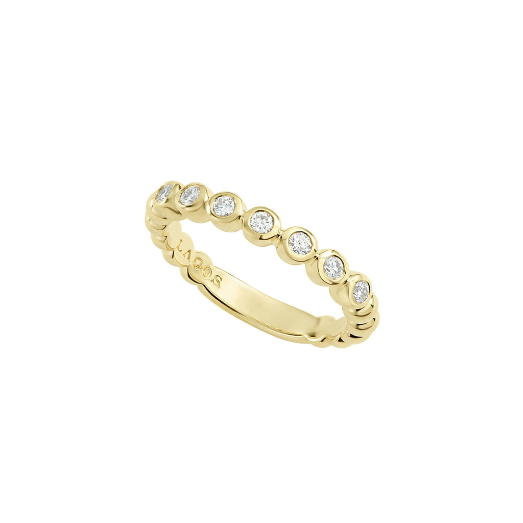 LAGOS CAVIAR GOLD Gold Stacking Ring 02-10222-007 Richter & Phillips Jewelers Cincinnati, OH