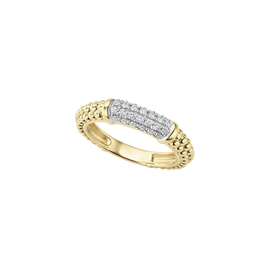 LAGOS CAVIAR GOLD Diamond Gold Ring 02-10245-DD7 Richter & Phillips Jewelers Cincinnati, OH