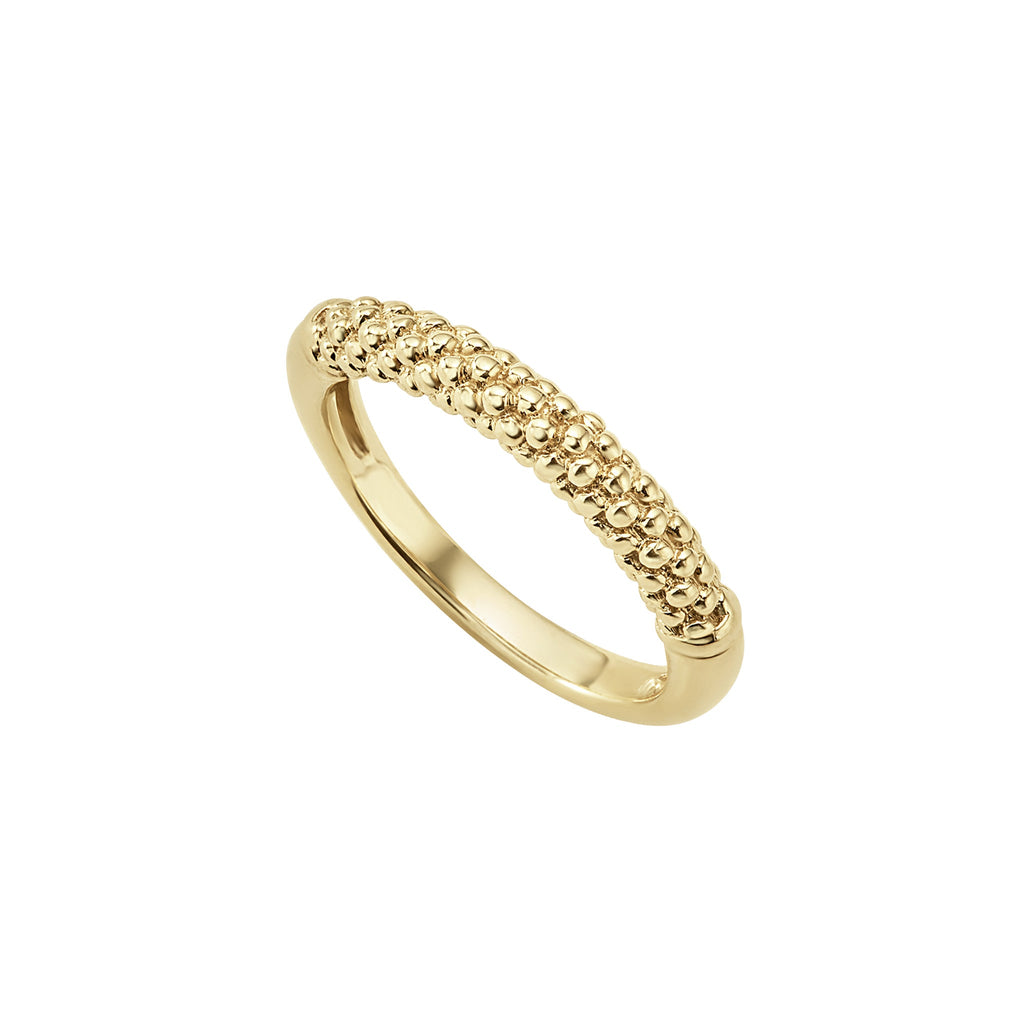 LAGOS CAVIAR GOLD Beaded Ring 03-10172-7 Richter & Phillips Jewelers Cincinnati, OH