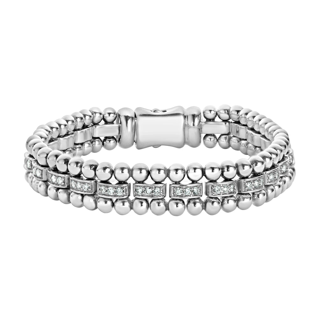 LAGOS CAVIAR SPARK DIAMOND BRACELET 05-81153-DDM Richter & Phillips Jewelers Cincinnati OH