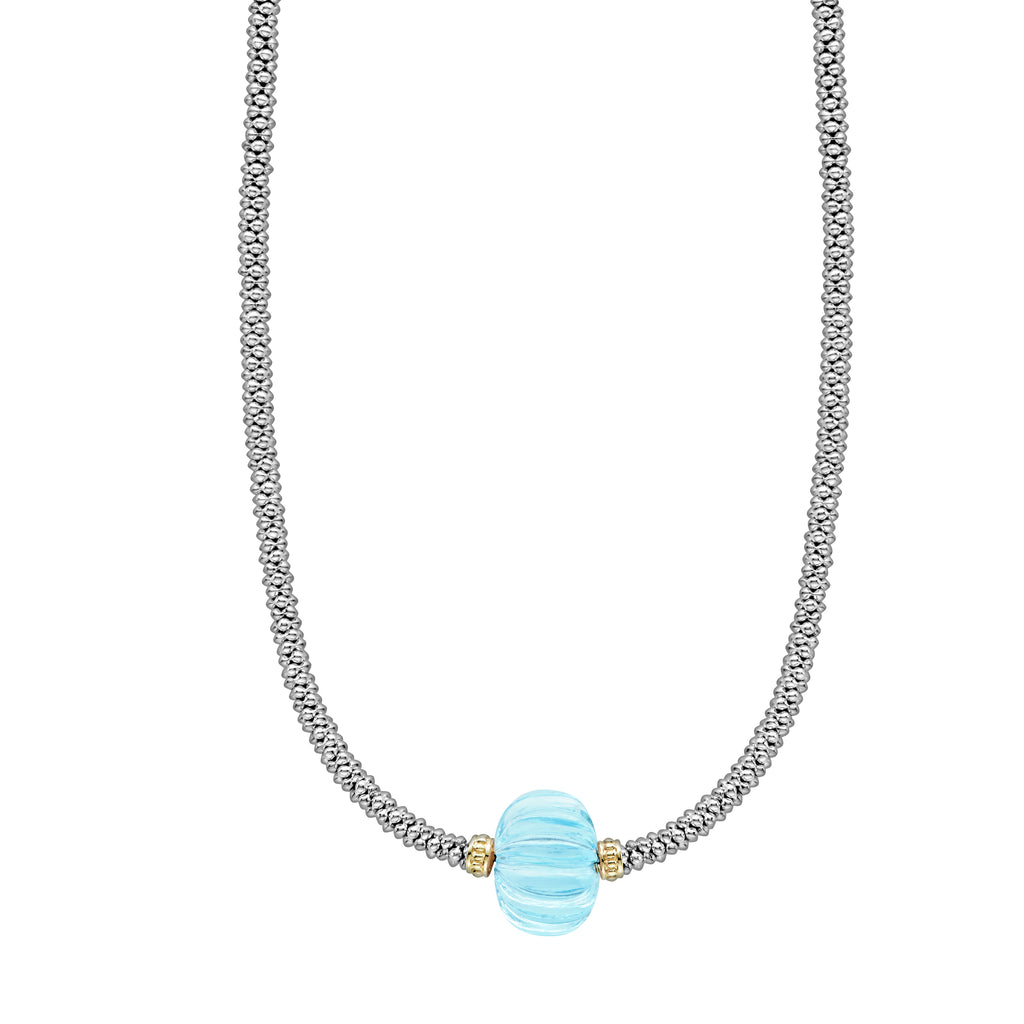 lagos CAVIAR FOREVER Sky Blue Topaz NECKLACE 04-81036-sb16 Richter & Phillips Jewelers Cincinnati, OH