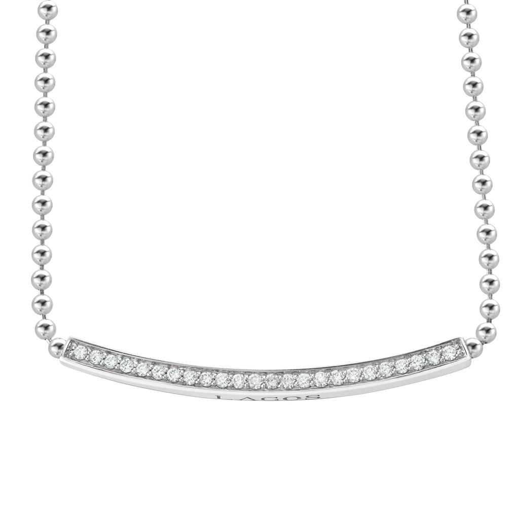 LAGOS CAVIAR SPARK DIAMOND NECKLACE 04-81042-DDML