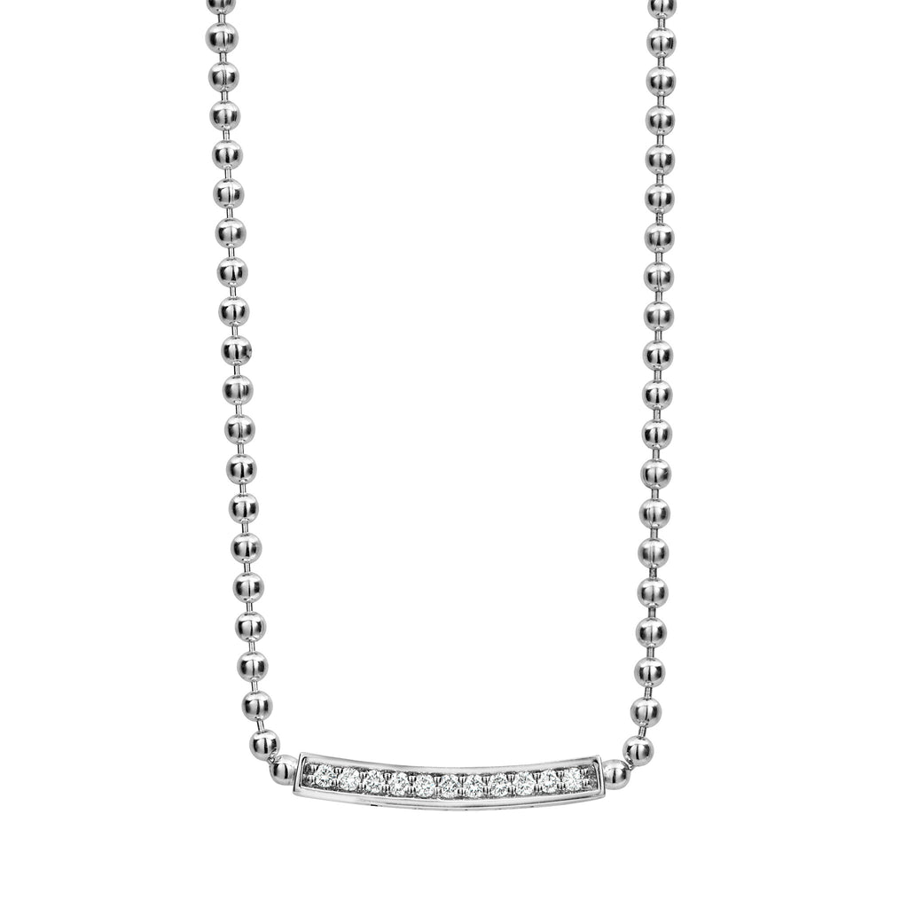 LAGOS CAVIAR SPARK DIAMOND NECKLACE 04-81060-DDML Richter & Phillips Jewelers Cincinnati OH