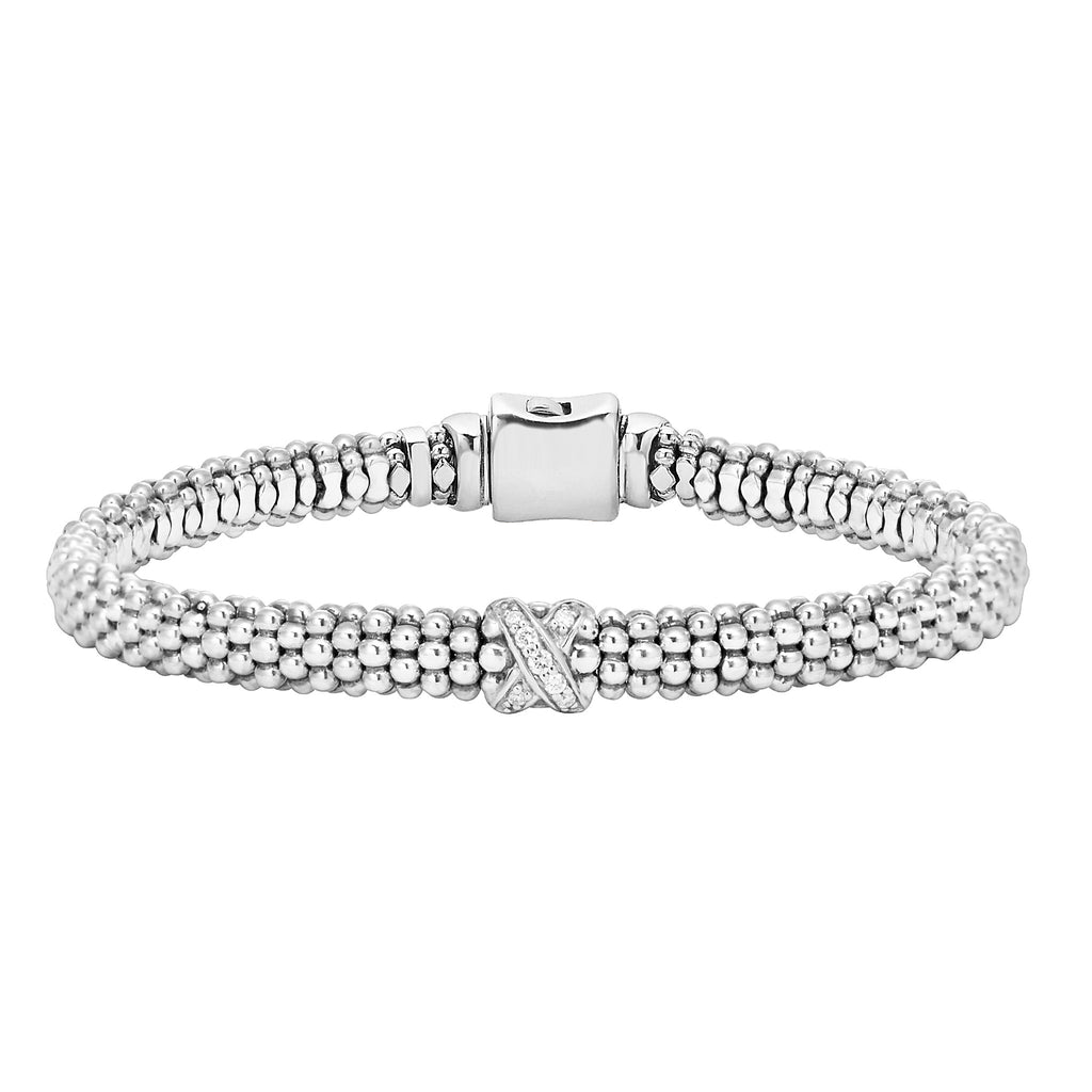 LAGOS DIAMOND LUX DIAMOND X BRACELET 5-80784-S Richter & Phillips Jewelers Cincinnati OH