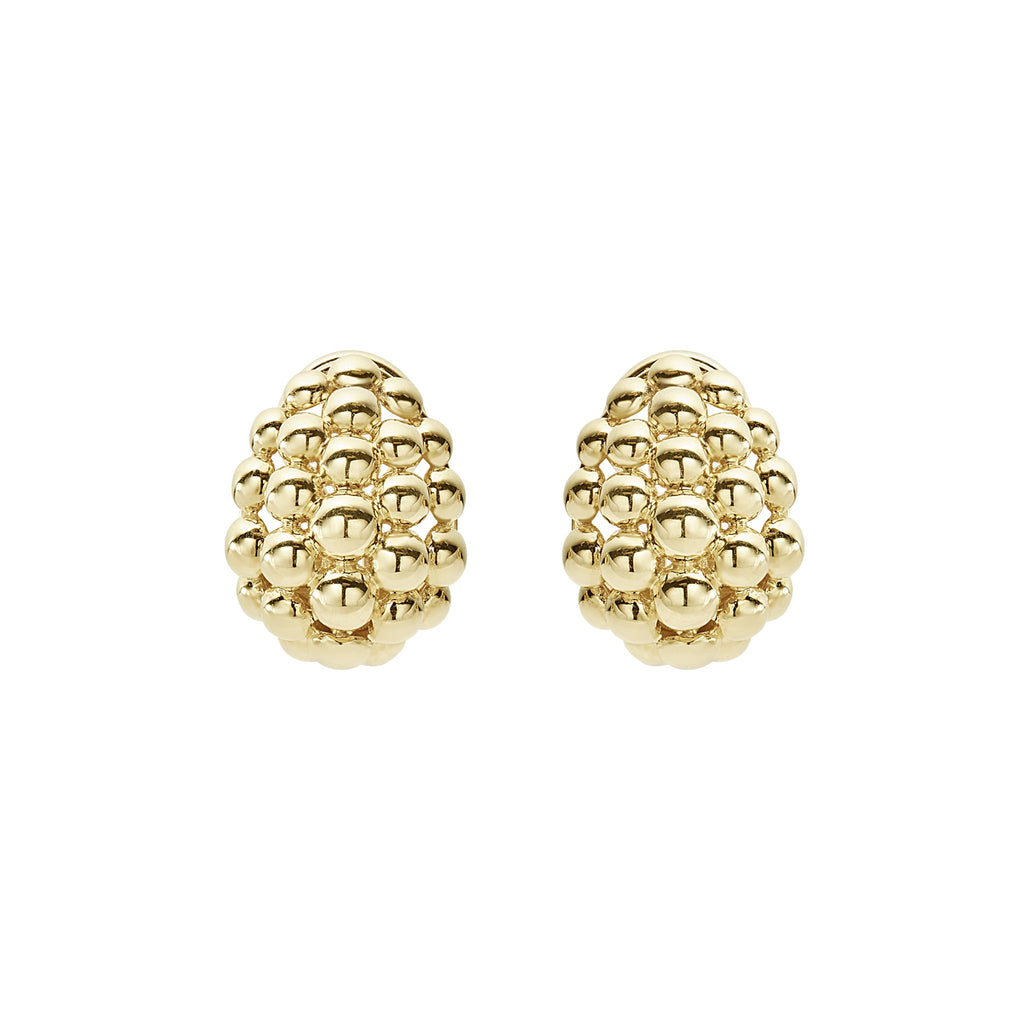LAGOS CAVIAR GOLD Gold Earrings 01-10527-M Richter & Phillips Jewelers Cincinnati, OH