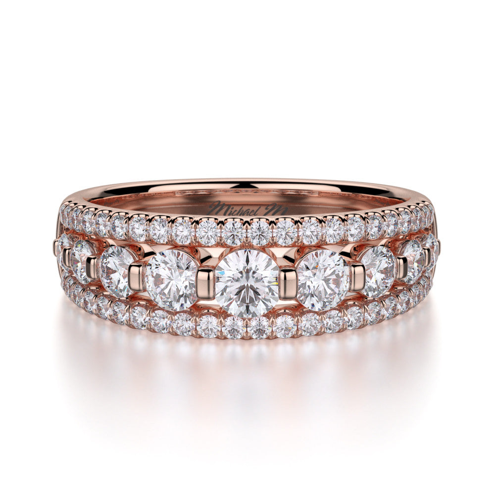 Michael M Rose Gold diamond wedding ring R306B