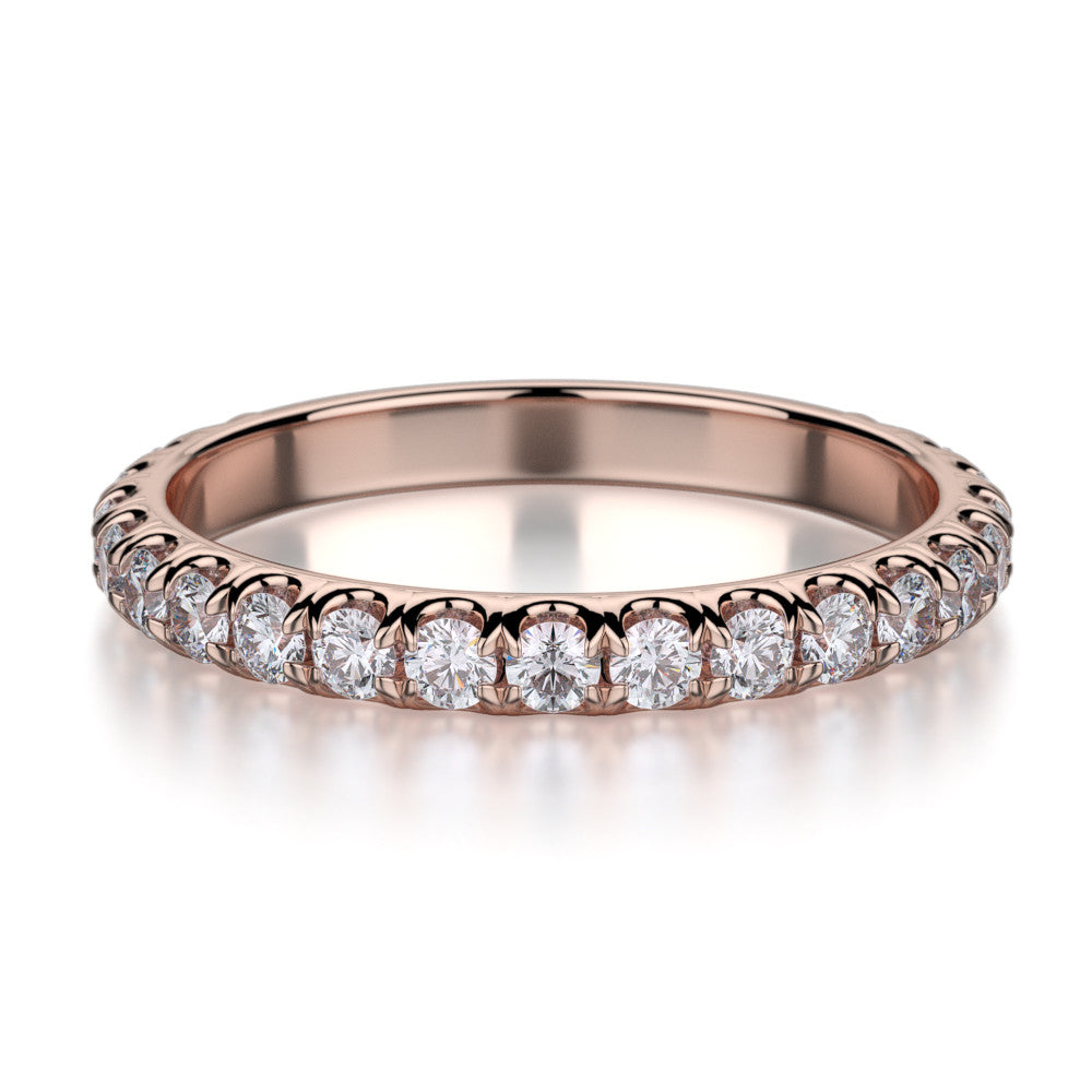 Michael M Rose gold diamond wedding ring R320B
