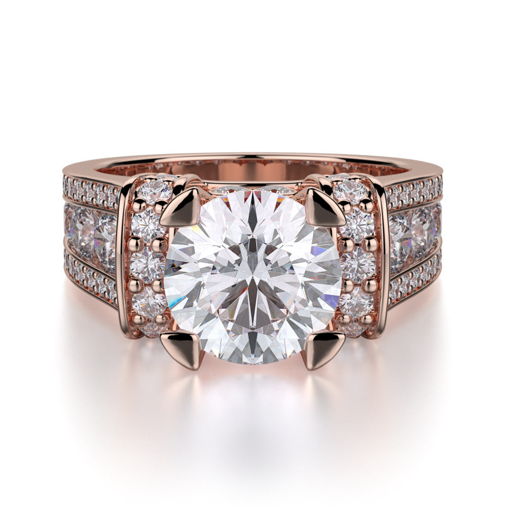 Rose gold diamond engagement ring by Michael M R406-2