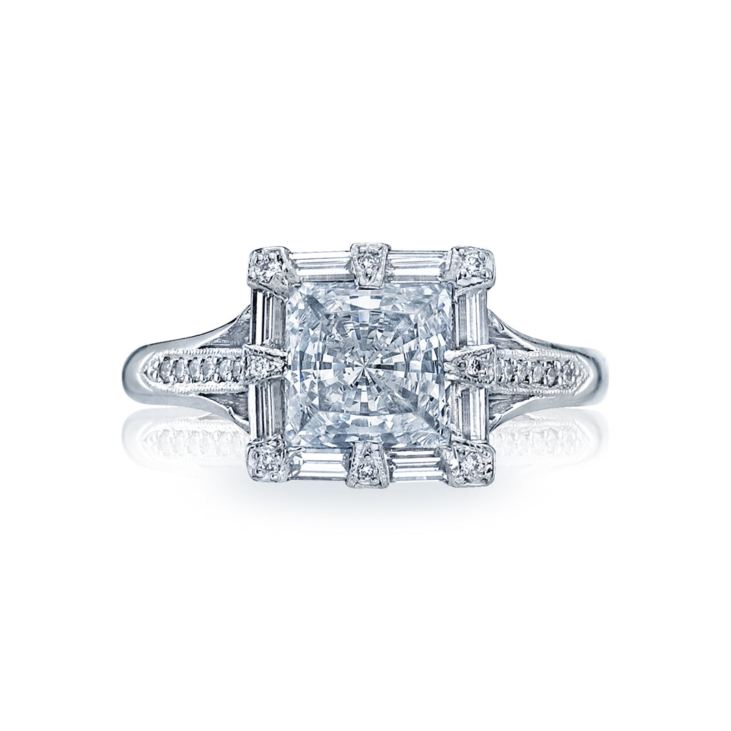 Simply Tacori Princess Cut diamond engagement ring 2525pr65