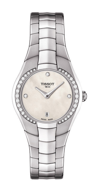 ladies stainless diamond watch