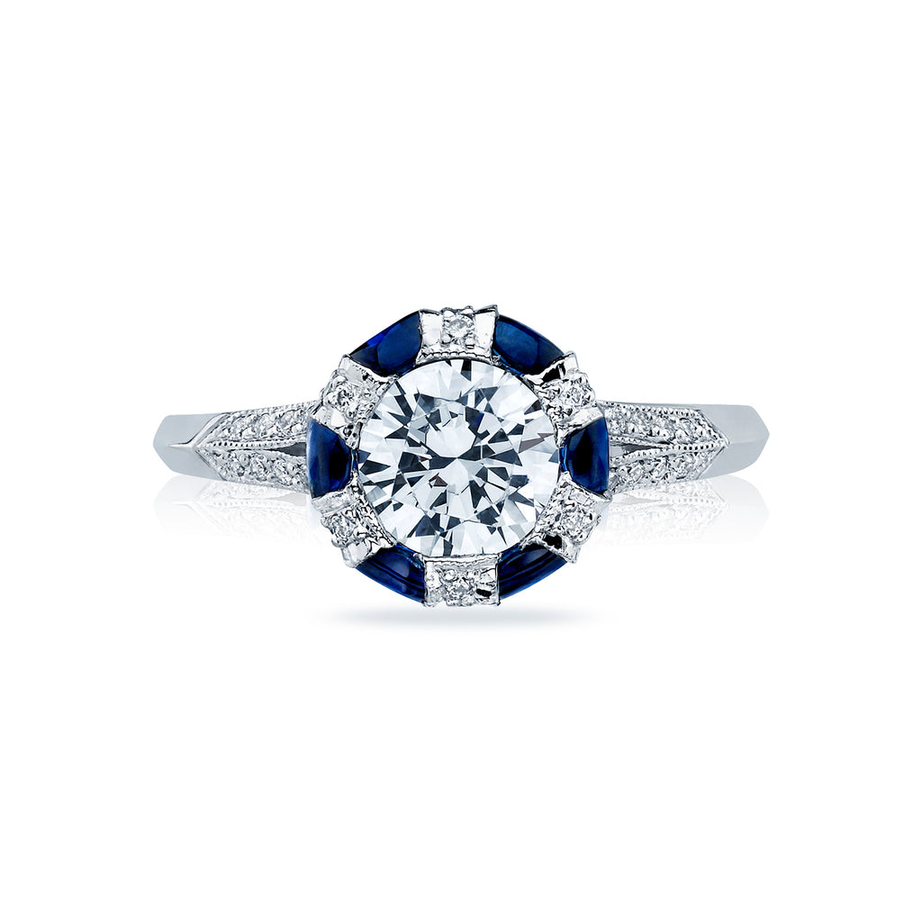 Simply Tacori Sapphire and Diamond engagement ring 2518rd65