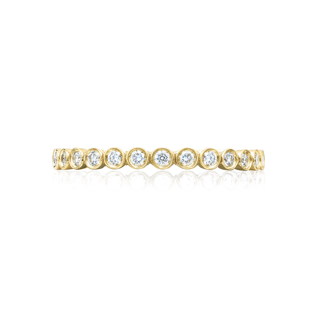 Tacori Bezel Set Diamond Yellow Gold Wedding Band 200-2Y
