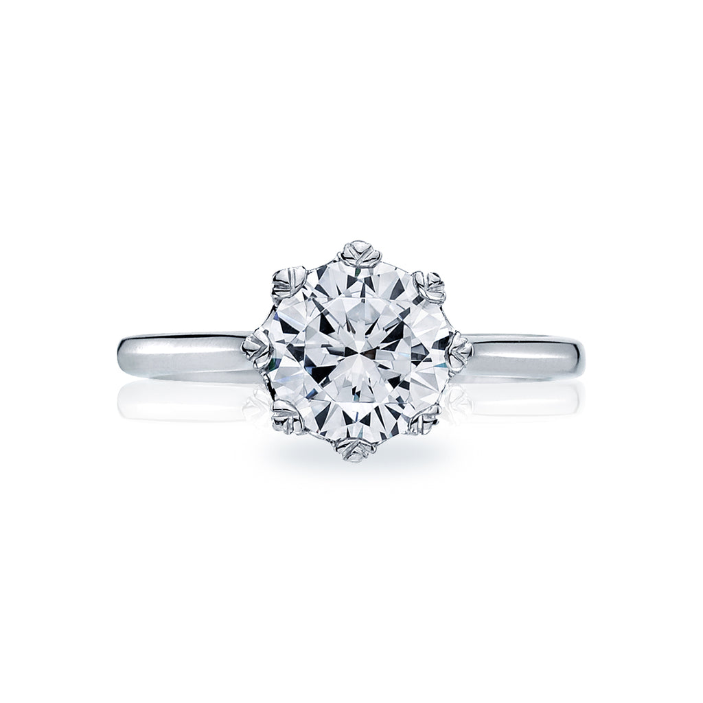Simply Tacori solitaire diamond engagement ring