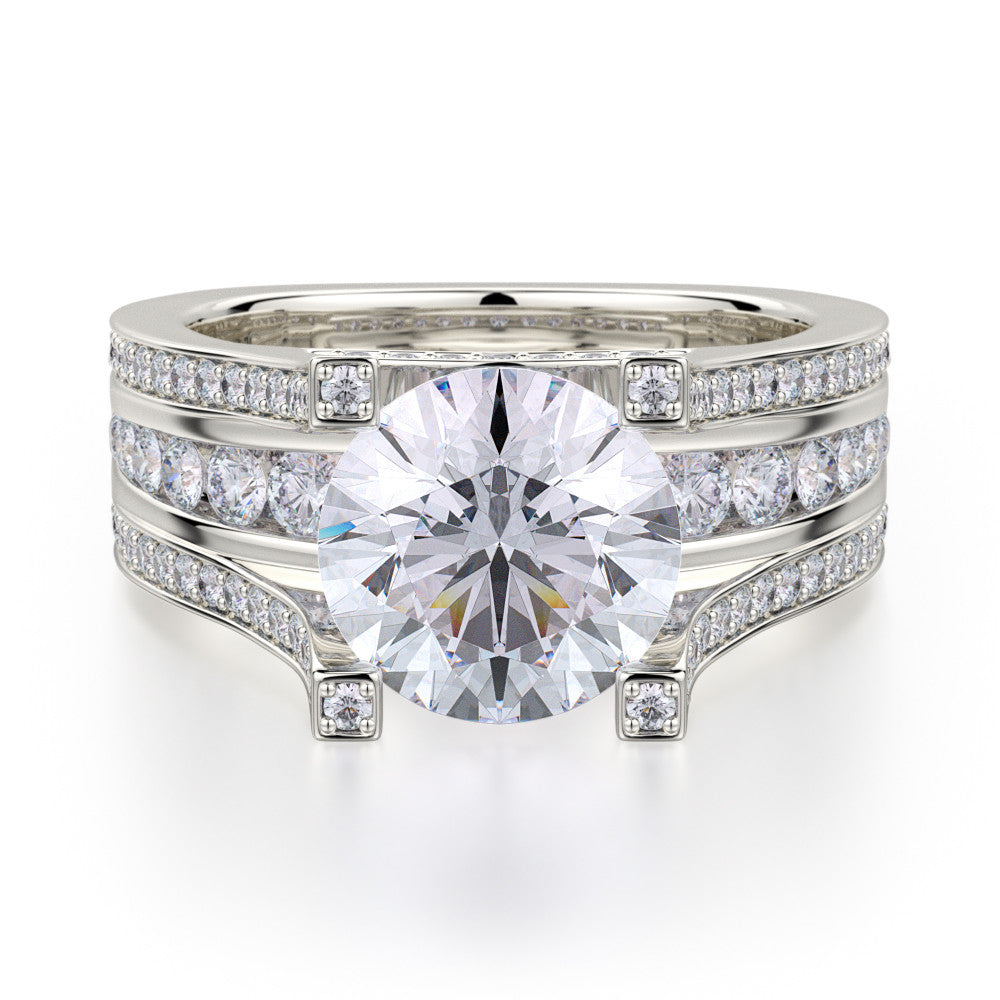 Platinum Stella Diamond Engagement Ring