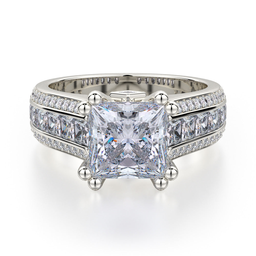 Platinum PRINCESSE Diamond Engagement Ring