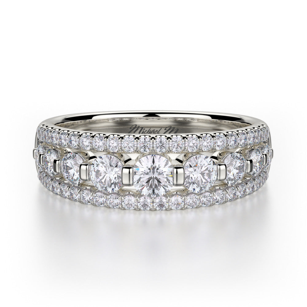 Michael M white gold diamond wedding band R306B