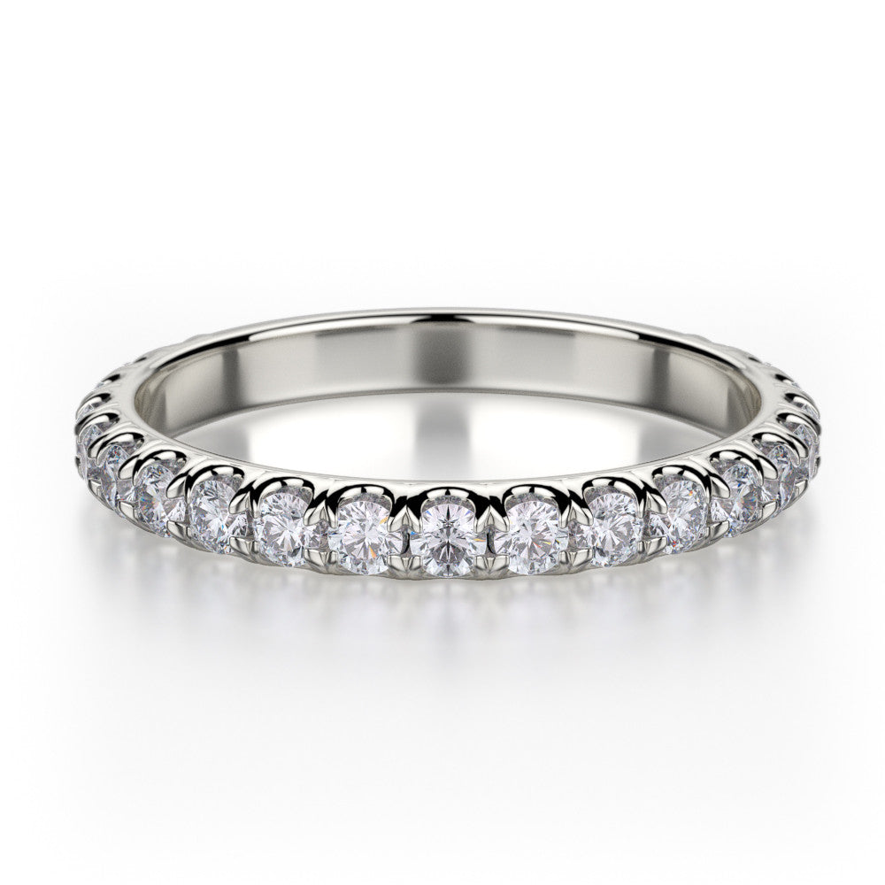 Michael M white gold diamond wedding band R320B