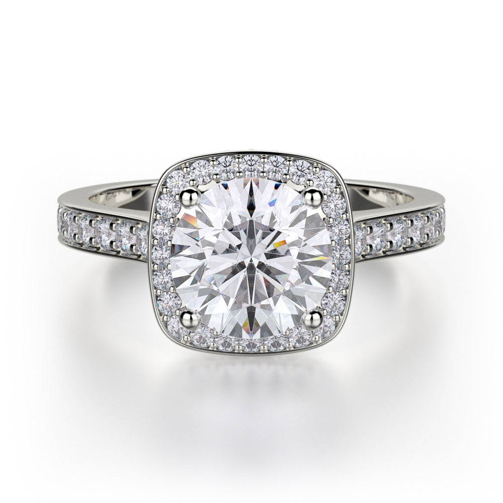 Platinum Love Diamond Engagement Ring