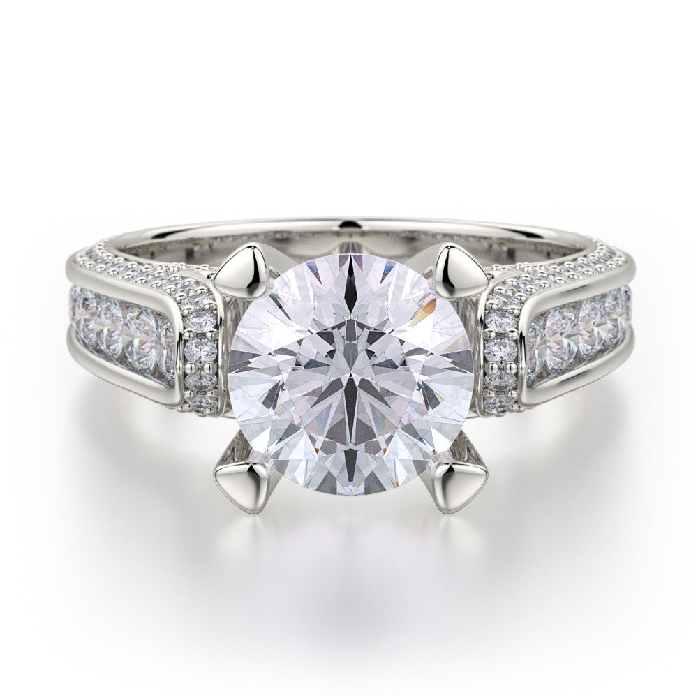 18K White Gold Stella Diamond Engagement Ring