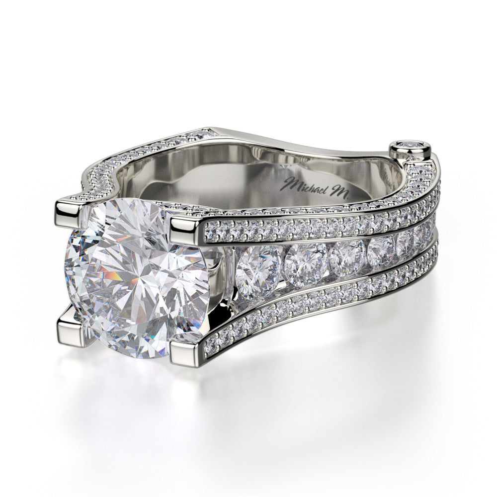 18K White Gold Strada Diamond Engagement Ring