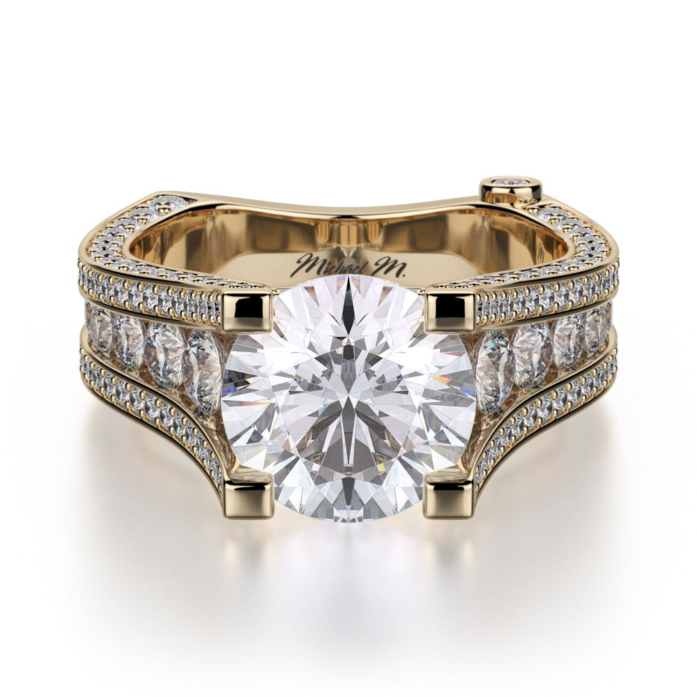 18K Yellow Gold Strada Diamond Engagement Ring