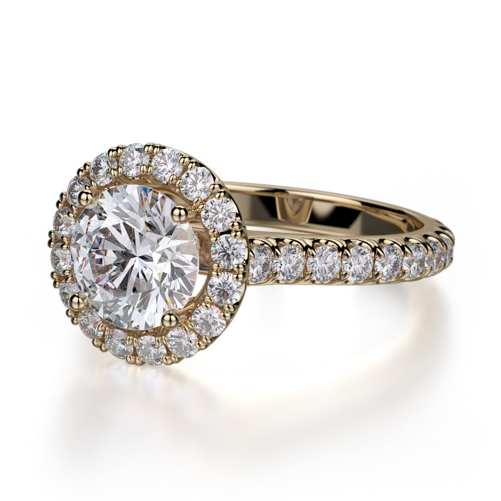 18K Yellow Gold Europa Diamond Engagement Ring