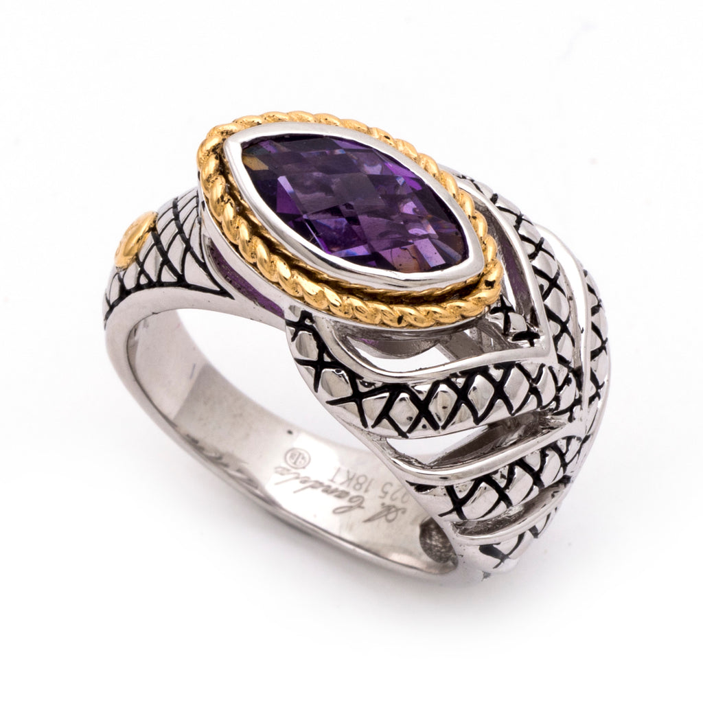 Andrea Candela Amethyst Feather ring ACR263-A