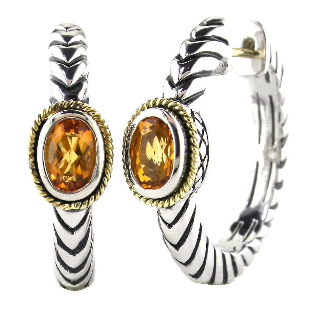 Andrea Candela citrine hoop earrings ACE299-C