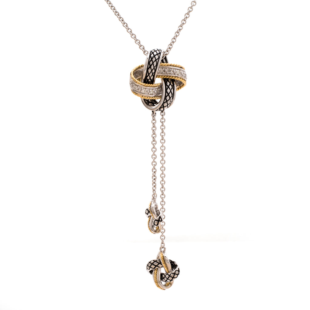 Andrea Candela Diamond Knot necklace acn147/09
