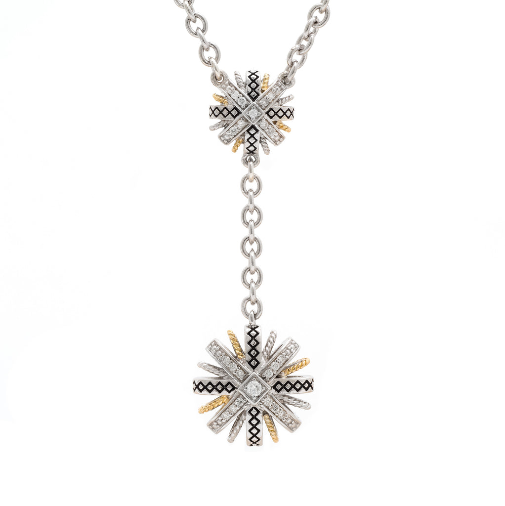 Andrea Candela Diamond  Flower Necklace ACN158/15