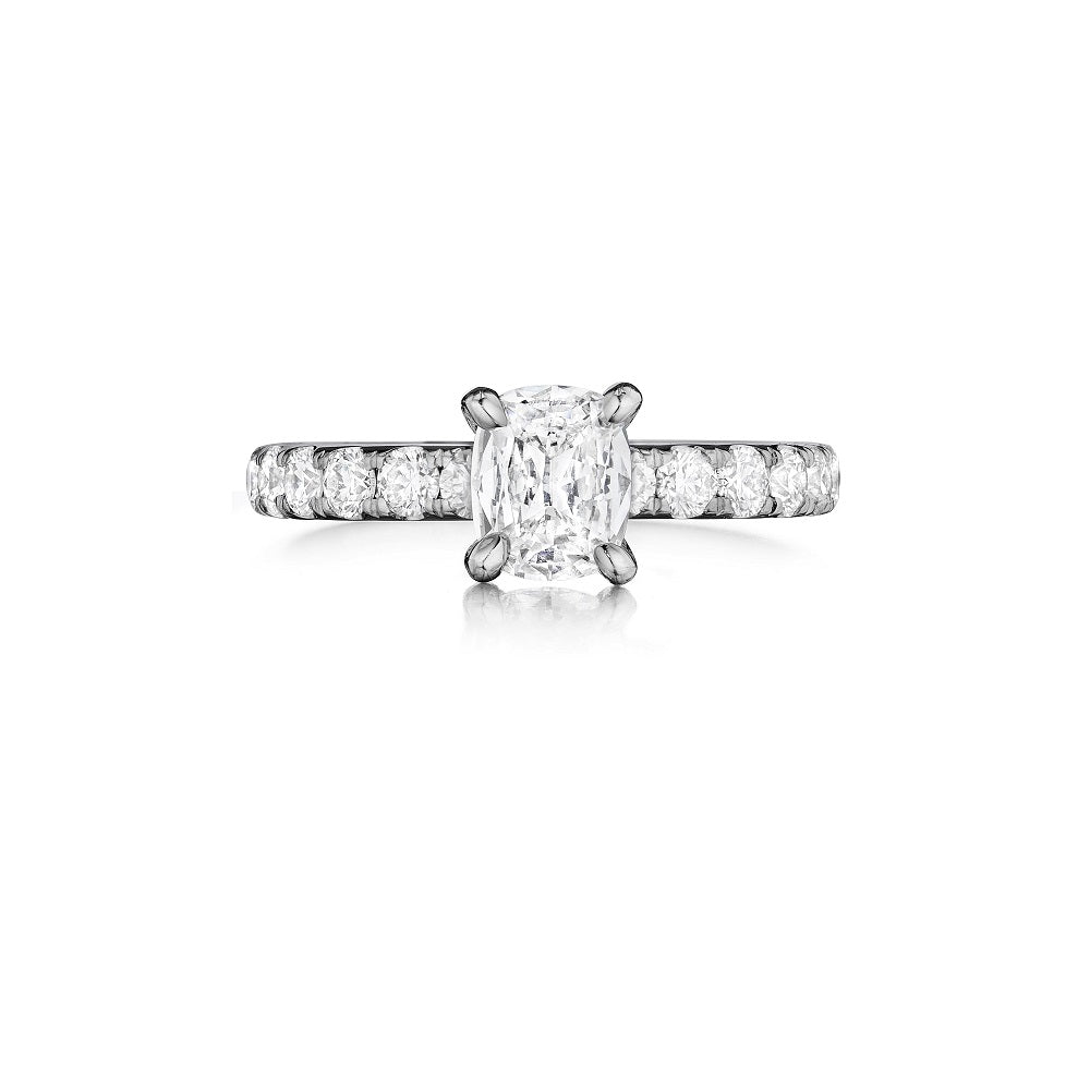 Henri Daussi Three-Sided Diamond Engagement Ring H06 available at Richter & Phillips Jewelers Downtown Cincinnati OH