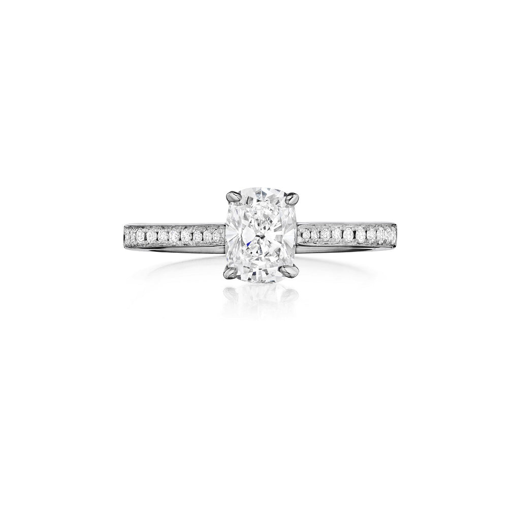 henri daussi diamond engagement ring h09 available at Richter & Phillips Jewelers Downtown Cincinnati OH