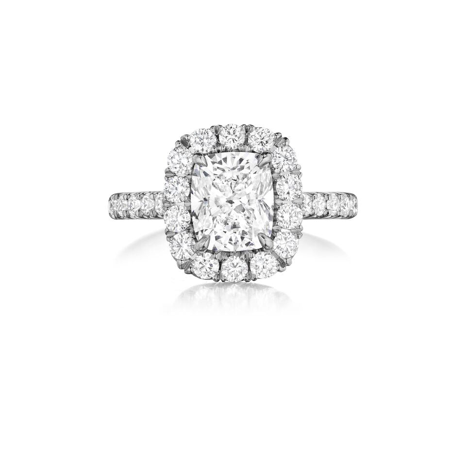 henri daussi diamond halo engagement ring AMDM available at Richter & Phillips Jewelers Downtown Cincinnati OH