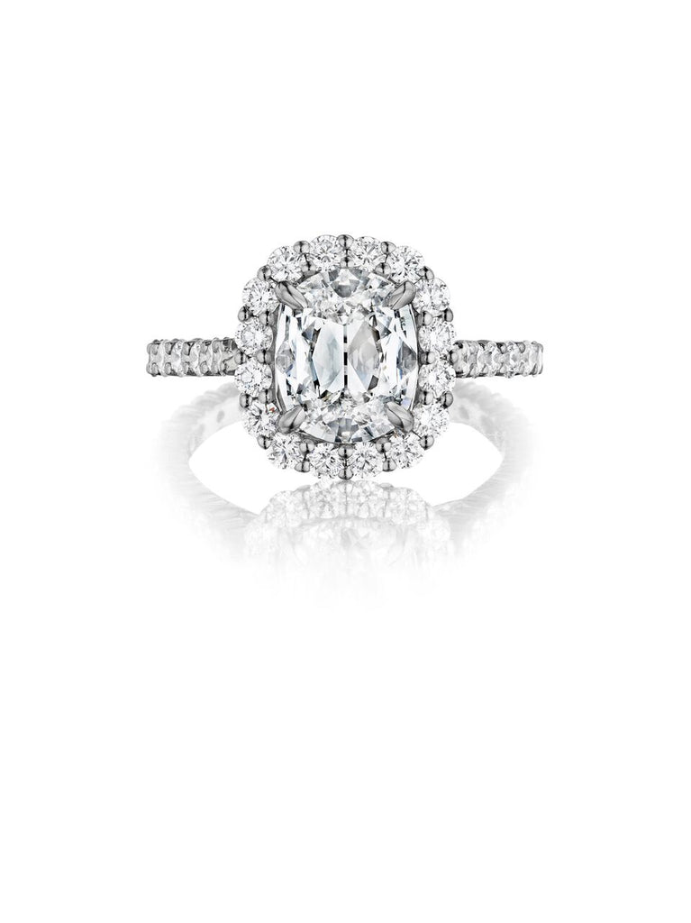 henri daussi halo single shank diamond engagement ring ANV available at Richter & Phillips Jewelers Downtown Cincinnati OH