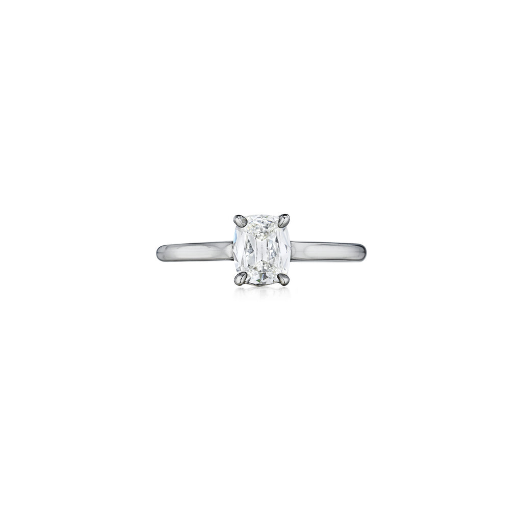 Henri Daussi Solitaire Engagement Ring H02 available at Richter & Phillips Jewelers Downtown Cincinnati OH
