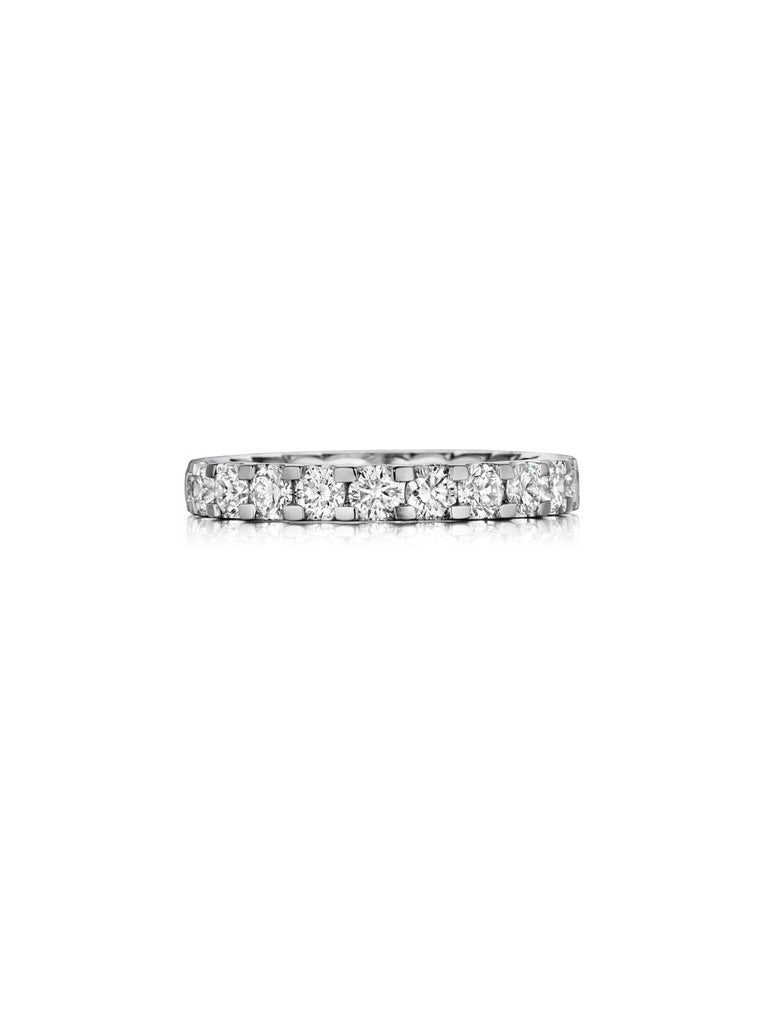 Henri Daussi prong set diamond eternity wedding band R13 E