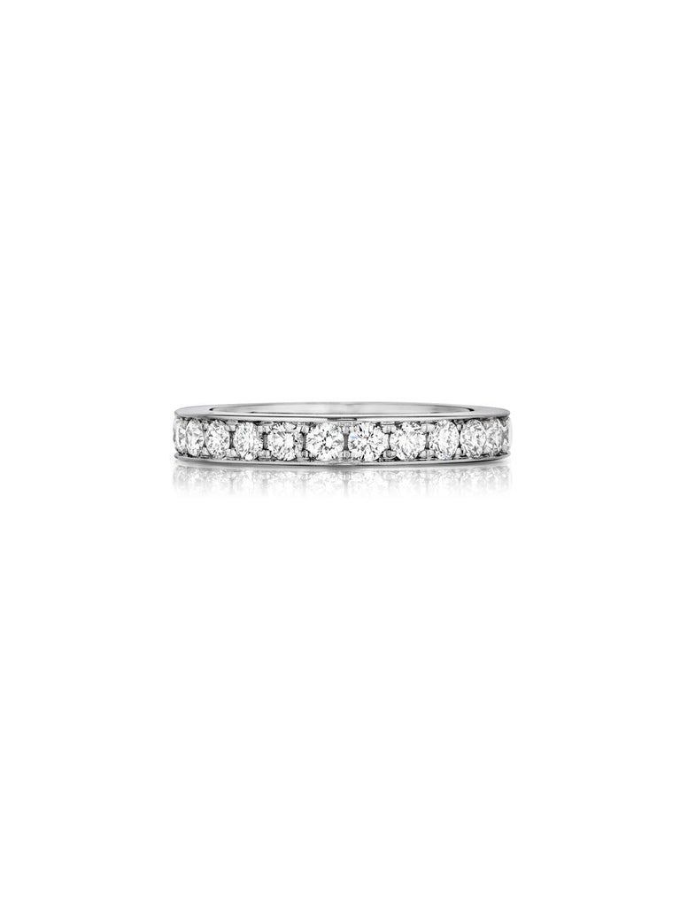 henri daussi bead set diamond wedding band R10 available at Richter & Phillips Jewelers Downtown Cincinnati OH