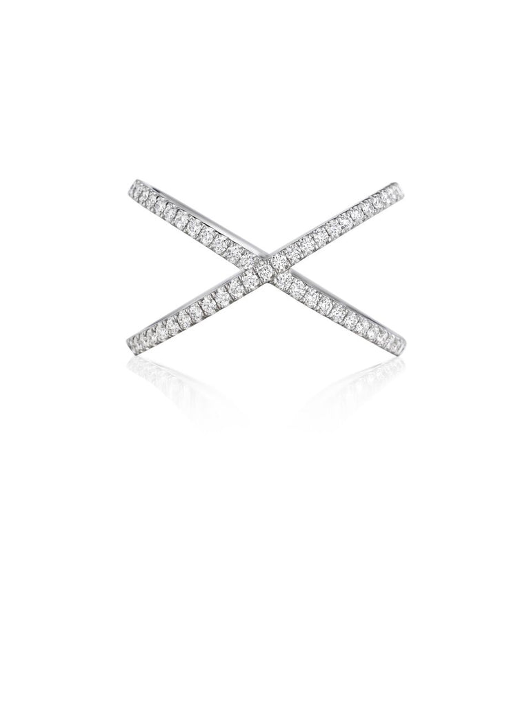 Henri Daussi Criss-Cross Diamond Band R38-1 Richter & Phillips Jewelers Cincinnati OH
