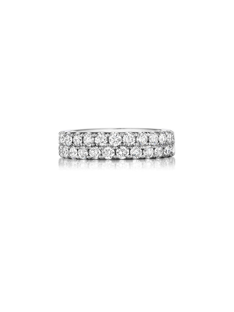 henri daussi double row pave set diamond wedding band R17 available at Richter & Phillips Jewelers Downtown Cincinnati OH